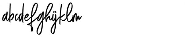 Shinthink Regular Font LOWERCASE