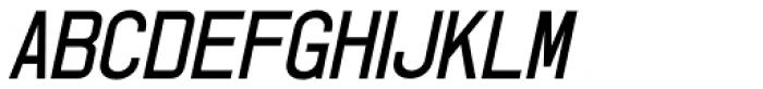 Shipping Carton Oblique JNL Font UPPERCASE