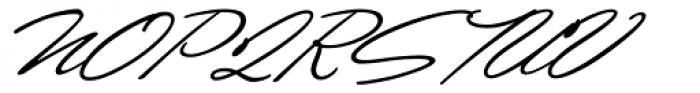 Shirley Script JF Font UPPERCASE