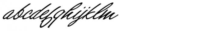 Shirley Script JF Font LOWERCASE