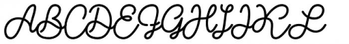 Shoelaces Font UPPERCASE