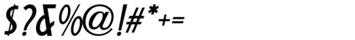 Short Subject Oblique JNL Font OTHER CHARS
