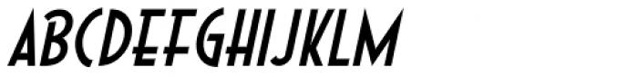 Short Subject Oblique JNL Font LOWERCASE