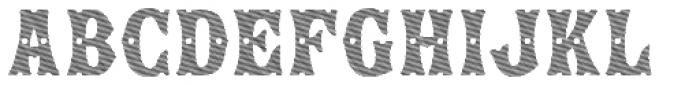 Show Lines Diagonal Font UPPERCASE