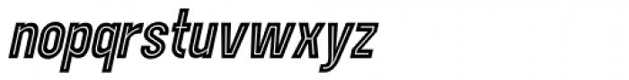 Showbiz Italic Font LOWERCASE