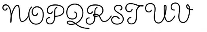 Showcase Script Font UPPERCASE