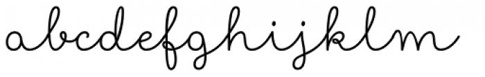 Showcase Script Font LOWERCASE