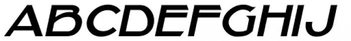 Showmanship Oblique JNL Font LOWERCASE