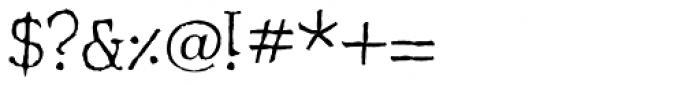 Shrub Font OTHER CHARS