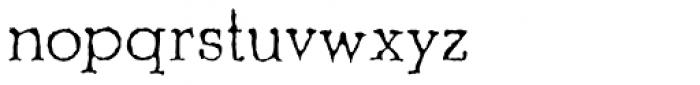 Shrub Font LOWERCASE