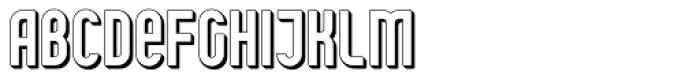 Shuttle 3D Font UPPERCASE