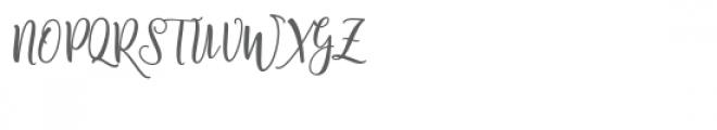 Shanghai Script Font UPPERCASE