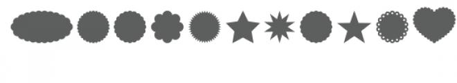 shapes dingbats font Font UPPERCASE