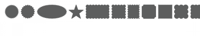 shapes dingbats font Font LOWERCASE