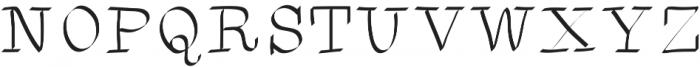 SIDFont2 ttf (400) Font UPPERCASE