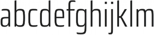 Sica Condensed Light otf (300) Font LOWERCASE