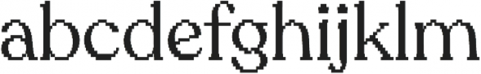 Sicilia pixels otf (400) Font LOWERCASE
