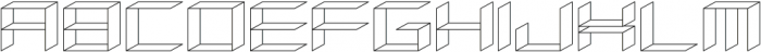 Side View ttf (400) Font UPPERCASE