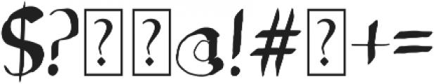 Sideline Bold otf (700) Font OTHER CHARS