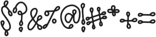 SideshowCLN Regular otf (400) Font OTHER CHARS
