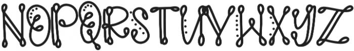 SideshowCLN Regular ttf (400) Font LOWERCASE