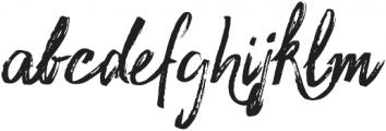 Sidney Rough otf (400) Font LOWERCASE
