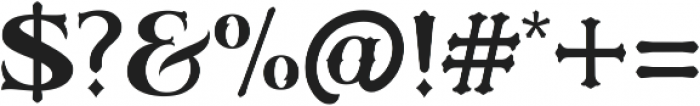 Sieber & Satire otf (400) Font OTHER CHARS
