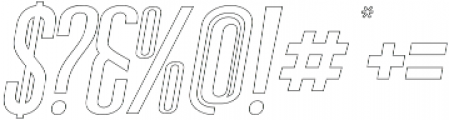 Sigma Italic Outline otf (400) Font OTHER CHARS