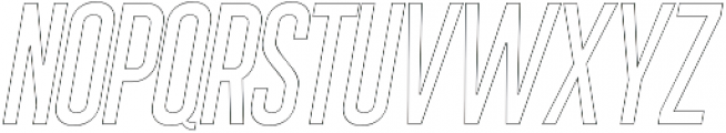 Sigma Italic Outline otf (400) Font UPPERCASE