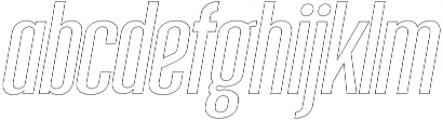 Sigma Italic Outline otf (400) Font LOWERCASE