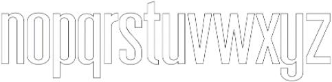 Sigma Line otf (400) Font LOWERCASE