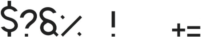 Sign 45- Lighter Regular otf (300) Font OTHER CHARS