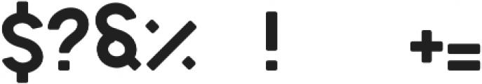 Sign 45- Round Regular otf (400) Font OTHER CHARS