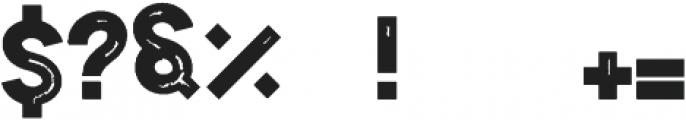 Sign45- Stamped Regular otf (400) Font OTHER CHARS