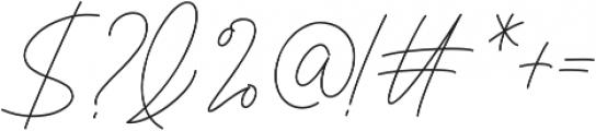 Signaline Script otf (400) Font OTHER CHARS