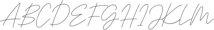 Signaline Script otf (400) Font UPPERCASE