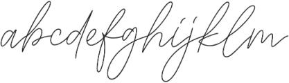 Signaline Script otf (400) Font LOWERCASE
