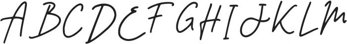 Signatura Regular otf (400) Font UPPERCASE