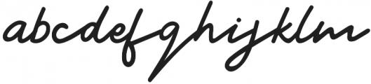 Signatura Regular otf (400) Font LOWERCASE