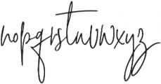 Signature Collection Alt otf (400) Font LOWERCASE