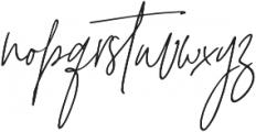 Signature Collection Italic otf (400) Font LOWERCASE