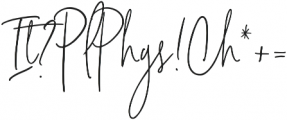 Signature Collection Liga2 otf (400) Font OTHER CHARS