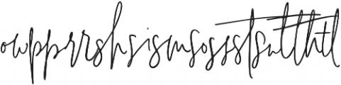 Signature Collection Liga2 otf (400) Font LOWERCASE