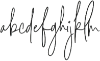 Signature Collection otf (400) Font LOWERCASE