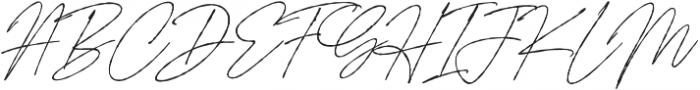 Signature Flavour Slant ALT  otf (400) Font UPPERCASE