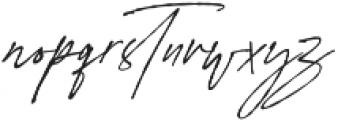 Signature Flavour Slant ALT  otf (400) Font LOWERCASE