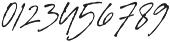 Signature Flavour Slant otf (400) Font OTHER CHARS