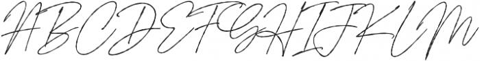 Signature Flavour Slant otf (400) Font UPPERCASE