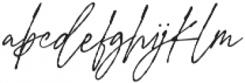 Signature Flavour Slant otf (400) Font LOWERCASE