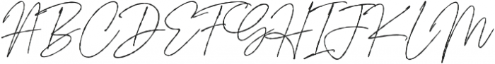 Signature Flavour otf (400) Font UPPERCASE